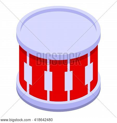 Clap Drums Icon. Isometric Of Clap Drums Vector Icon For Web Design Isolated On White Background