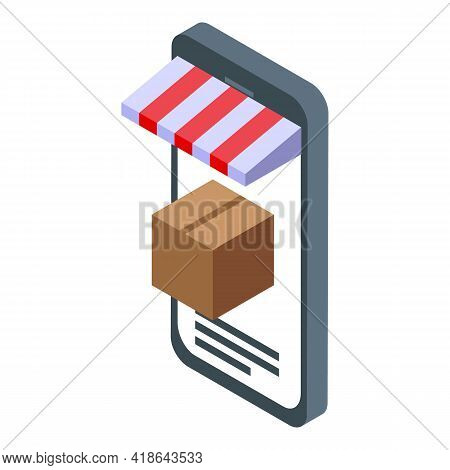 Online Shop Catalog Icon. Isometric Of Online Shop Catalog Vector Icon For Web Design Isolated On Wh