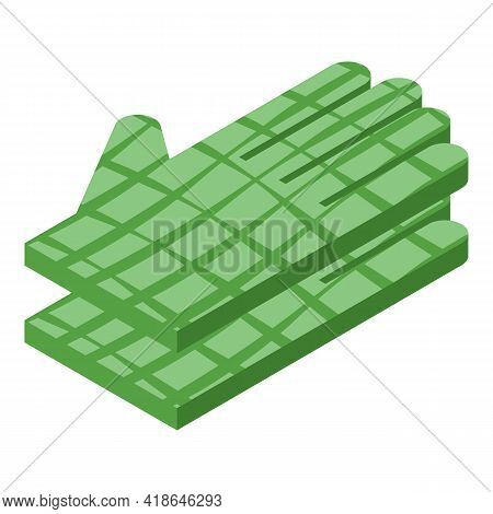 Crocodile Gloves Icon. Isometric Of Crocodile Gloves Vector Icon For Web Design Isolated On White Ba