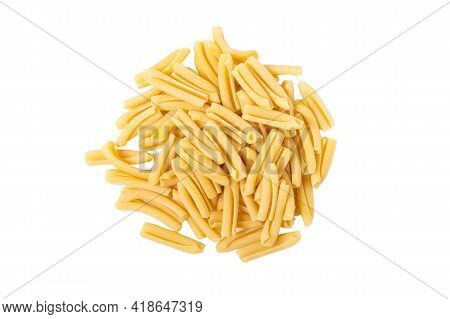 Bunch Of Pasta Penne Isolated On A White Background. High Quality Photo
