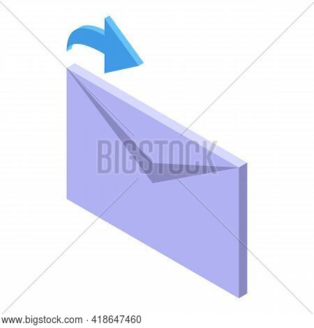 Repost Mail Icon. Isometric Of Repost Mail Vector Icon For Web Design Isolated On White Background