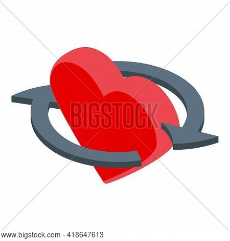 Like Heart Repost Icon. Isometric Of Like Heart Repost Vector Icon For Web Design Isolated On White