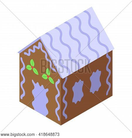 Treat Gingerbread House Icon. Isometric Of Treat Gingerbread House Vector Icon For Web Design Isolat