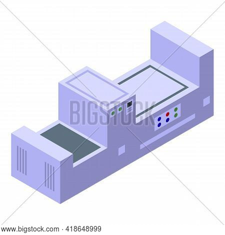 Paper Production Equipment Icon. Isometric Of Paper Production Equipment Vector Icon For Web Design
