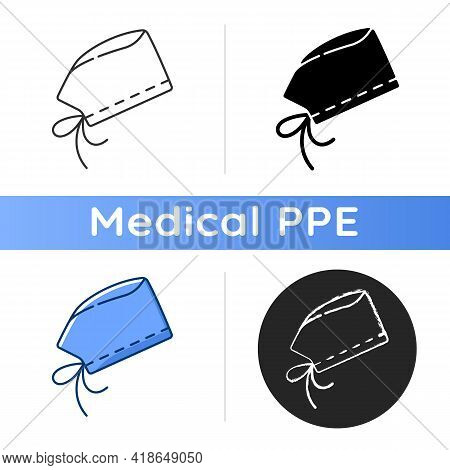 Surgical Cap Icon. Protective Wear From Virus Infection. Surgeon Suit For Operating. Doctor Uniform.