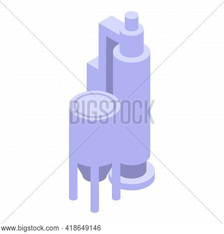 Paper Manufacturing Icon. Isometric Of Paper Manufacturing Vector Icon For Web Design Isolated On Wh
