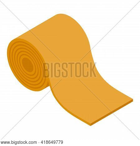 Paper Mat Icon. Isometric Of Paper Mat Vector Icon For Web Design Isolated On White Background