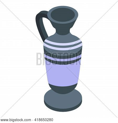 Amphora Pitcher Icon. Isometric Of Amphora Pitcher Vector Icon For Web Design Isolated On White Back