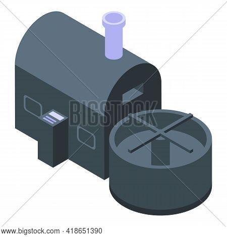Coffee Roasting Machine Icon. Isometric Of Coffee Roasting Machine Vector Icon For Web Design Isolat