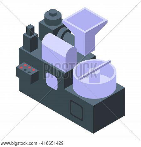 Roaster Machine Icon. Isometric Of Roaster Machine Vector Icon For Web Design Isolated On White Back