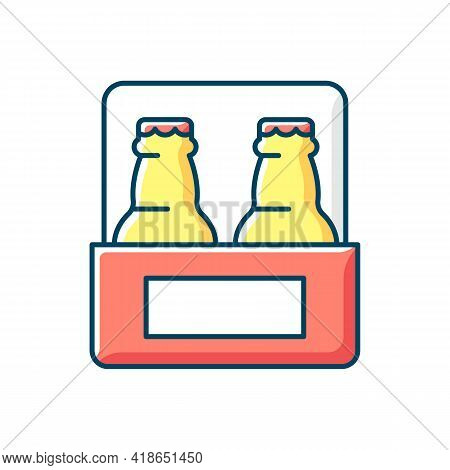 Beer To Go Rgb Color Icon. Carbonated Drink For Takeaway. Consuming Alcoholic Drink. Brewing And Fer
