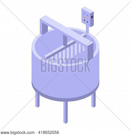 Cheese Production Equipment Icon. Isometric Of Cheese Production Equipment Vector Icon For Web Desig