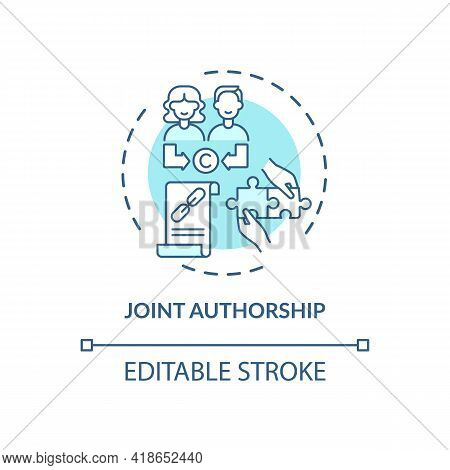 Joint Authorship Concept Icon. Copyright Law Special Rule Idea Thin Line Illustration. Joint Work. S