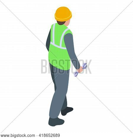Airport Worker Icon. Isometric Of Airport Worker Vector Icon For Web Design Isolated On White Backgr