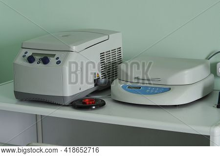 Medical, Biological Laboratory. Laboratory Equipment And Devices For Medical, Biological And Scienti