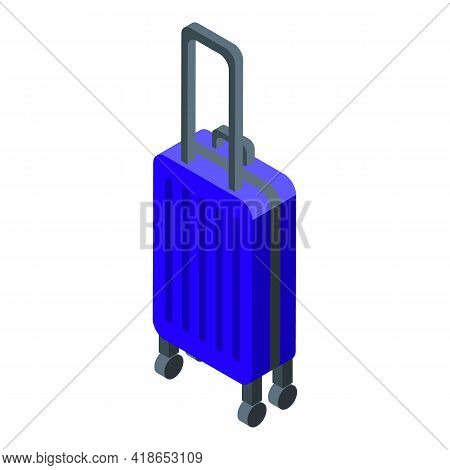 Airport Baggage Icon. Isometric Of Airport Baggage Vector Icon For Web Design Isolated On White Back