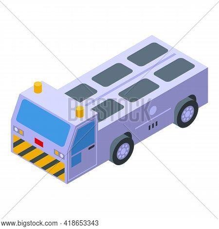 Luggage Transportation Car Icon. Isometric Of Luggage Transportation Car Vector Icon For Web Design