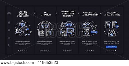 Complete Wealth Plan Onboarding Vector Template. Responsive Mobile Website With Icons. Web Page Walk