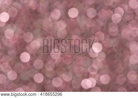 Abstract Soft Red, Pink, Wine Bokeh, Defocused Background. Texture For Christmas And New Years Conce