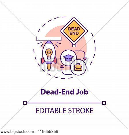 Dead-end Job Concept Icon. Ceiling In Work Idea Thin Line Illustration. Further Advancement Impossib