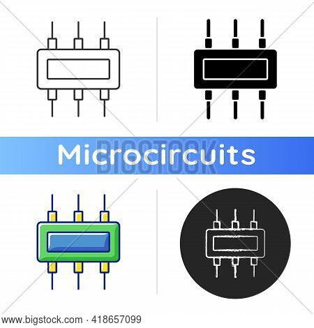 Connector Icon. Electromechanical Device Used To Join Electrical Conductors And Create Electrical Ci