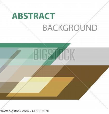 Abstract Background With Geometric Shapes, Stock Vector
