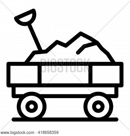 Ranch Trailer Icon. Outline Ranch Trailer Vector Icon For Web Design Isolated On White Background