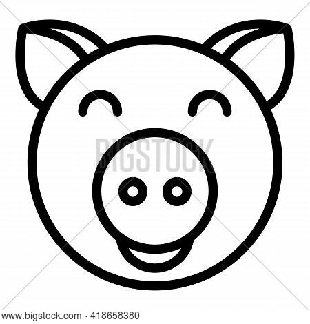 Ranch Pig Icon. Outline Ranch Pig Vector Icon For Web Design Isolated On White Background