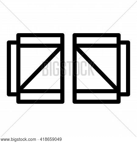 Ranch Doors Icon. Outline Ranch Doors Vector Icon For Web Design Isolated On White Background