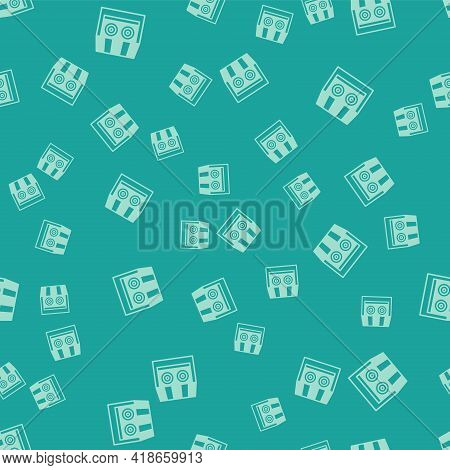 Green Shooting Gallery Icon Isolated Seamless Pattern On Green Background. Shooting Range. Vector