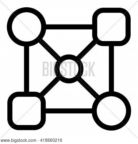 Internet Area Icon. Outline Internet Area Vector Icon For Web Design Isolated On White Background