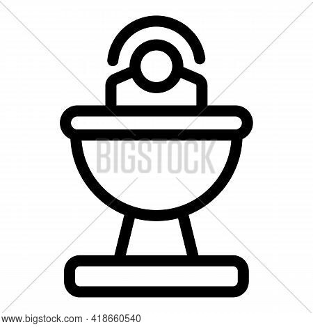Satellite Dish Icon. Outline Satellite Dish Vector Icon For Web Design Isolated On White Background