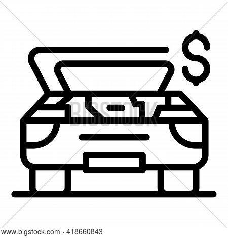 Compensation Car Broken Icon. Outline Compensation Car Broken Vector Icon For Web Design Isolated On