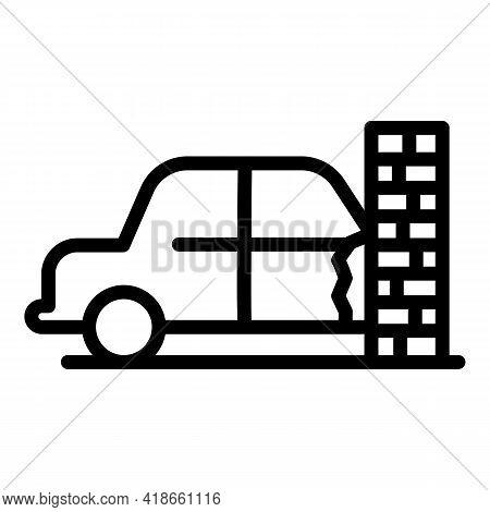 Car Accident Compensation Icon. Outline Car Accident Compensation Vector Icon For Web Design Isolate