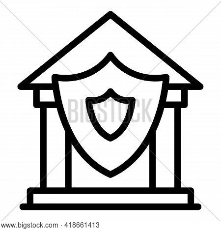 Bank Compensation Icon. Outline Bank Compensation Vector Icon For Web Design Isolated On White Backg