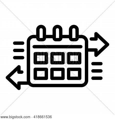 Liability Safety Calendar Icon. Outline Liability Safety Calendar Vector Icon For Web Design Isolate