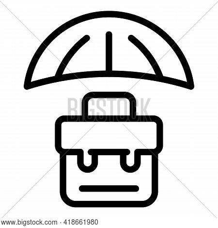 Liability Case Umbrella Icon. Outline Liability Case Umbrella Vector Icon For Web Design Isolated On