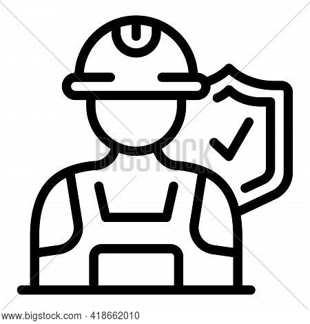 Liability Worker Icon. Outline Liability Worker Vector Icon For Web Design Isolated On White Backgro