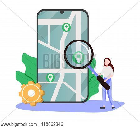 Web Development Abstract Concept Vector Illustration. Single Page Application, Messaging Application