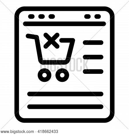 Online Payment Cancellation Icon. Outline Online Payment Cancellation Vector Icon For Web Design Iso