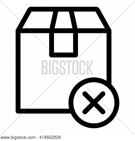 Parcel Payment Cancellation Icon. Outline Parcel Payment Cancellation Vector Icon For Web Design Iso