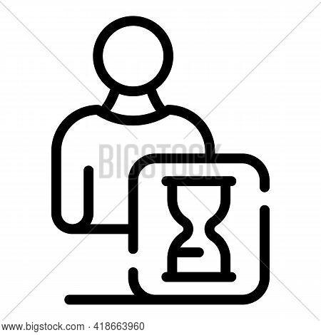 Rush Job Time Management Icon. Outline Rush Job Time Management Vector Icon For Web Design Isolated
