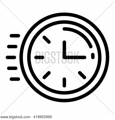 Rush Job Time Work Icon. Outline Rush Job Time Work Vector Icon For Web Design Isolated On White Bac