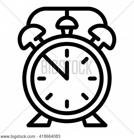Alarm Clock Icon. Outline Alarm Clock Vector Icon For Web Design Isolated On White Background