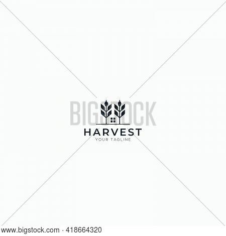 Harvest Home Nature Logo Design Simple Modern