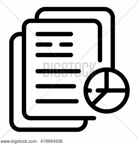 Result Money Document Graph Icon. Outline Result Money Document Graph Vector Icon For Web Design Iso