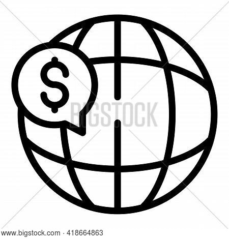Result Money Global Icon. Outline Result Money Global Vector Icon For Web Design Isolated On White B