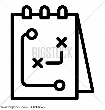Tactical Note Market Studies Icon. Outline Tactical Note Market Studies Vector Icon For Web Design I