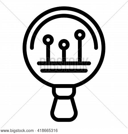 Magnifier Market Studies Icon. Outline Magnifier Market Studies Vector Icon For Web Design Isolated