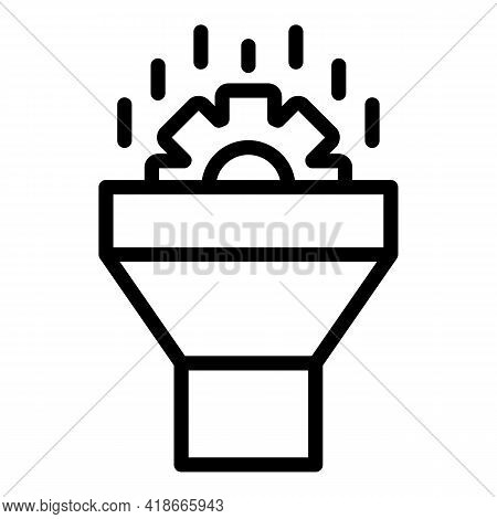 Data Funnel Icon. Outline Data Funnel Vector Icon For Web Design Isolated On White Background